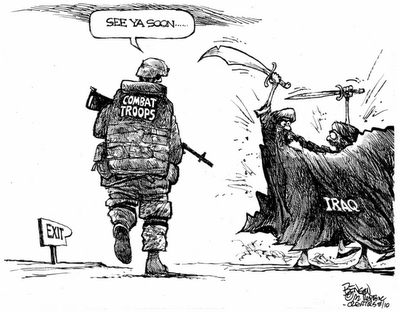 Cartoon - Return to Iraq