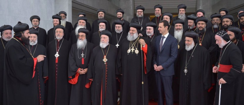 assad-meets-Christian-clerics