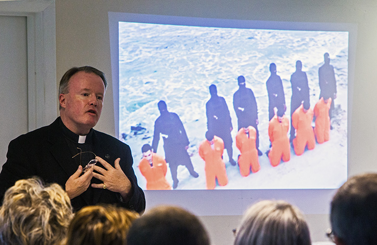 Priest discusses Christian persecution in the Middle East